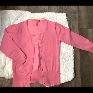 Charlotte Tarantola Pink Cardigan Sweater